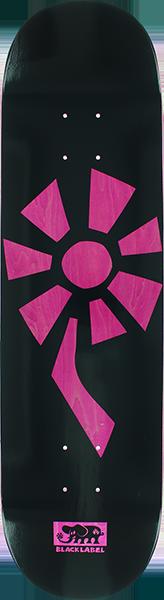 BLL FLOWER POWER DECK-8.25 BLACK/PINK VENEER