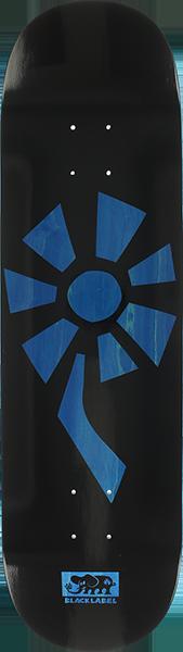 BLL FLOWER POWER DECK-8.5 BLACK/BLUE VENEER