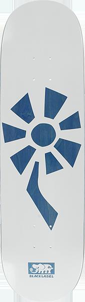 BLL FLOWER POWER DECK-8.5 WHITE/BLUE VENEER