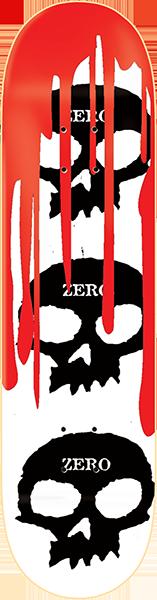 ZERO 3 SKULL WITH BLOOD DECK-8.12 WHT/BLK/RED