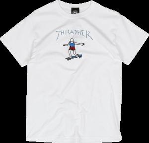 THRASHER GONZ LOGO SS WHITE