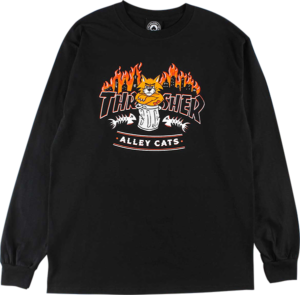 THRASHER ALLEY CATS LS BLACK