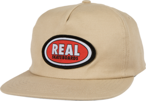 REAL OVAL HAT ADJ-KHAKI/RED