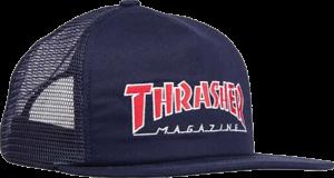 THRASHER OUTLINED MESH HAT ADJ-NAVY/LT.BLUE