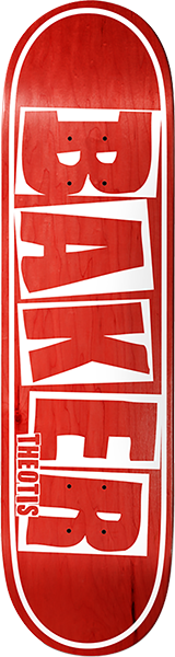 BAKER BEASLEY BRAND NAME DECK-8.5 RED VENEER