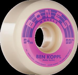 BONES KOPPL STF V6 ROLLERSURFER 99a NAT/PINK x4
