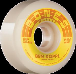 BONES KOPPL STF V6 ROLLERSURFER 99a NAT/YEL x4