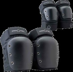 PROTEC KNEE/ELBOW OPEN BACK COMBO SET M-BLACK