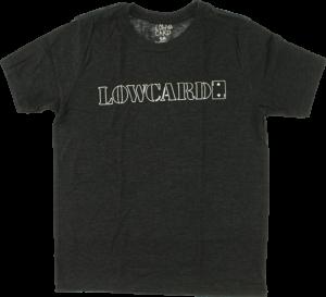 LOWCARD LOGO YTH SS S-CHARCOAL