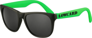 LOWCARD LOGO SUNGLASSES BLACK/GREEN