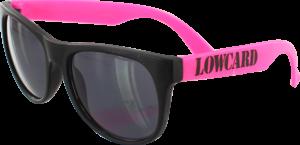 LOWCARD LOGO SUNGLASSES BLACK/PINK