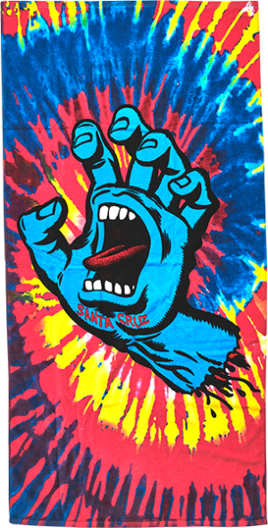 Santa Cruz SCREAMING HAND TOWEL PINK/TIE DYE