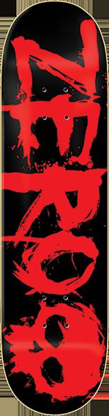 ZERO BLOOD DECK-8.25 BLK/RED