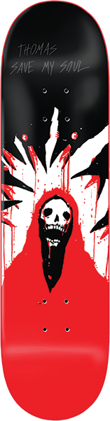 ZERO THOMAS PC SAVE MY SOUL DECK-8.25 RED DIP