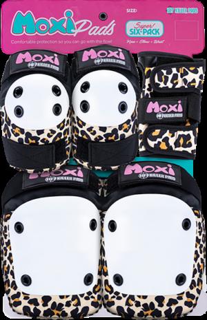187 6-PACK PAD SET L/XL-MOXI LEOPARD