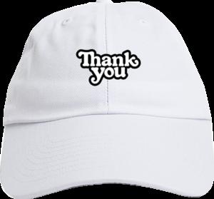 THANK YOU LOGO DAD HAT ADJ-WHITE