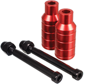 MGP INTEGRATED EXTREME AXLE PEGS RED
