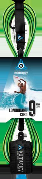 KOM 9' LB ANKLE REGULAR LEASH 7mm CL.LIME/BLK