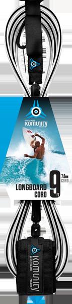 KOM 9' LB ANKLE REGULAR LEASH 7mm CL.BLK/BLK