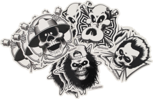 BH SKULL 12PK/ASSORTED STICKERS