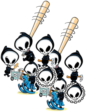 BLIND REAPER ASSORTED 10/PK STICKERS