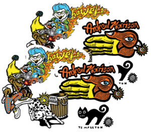 ND PRO ASSORTED 10/PK STICKERS