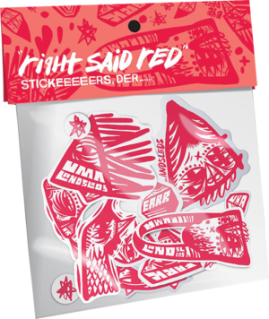 UMA RIGHT SAID RED 15/PACK ASSORTED STICKERS