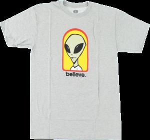 Alien Workshop BELIEVE SS HEATHER GREY/YEL/RED