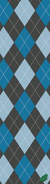 MOB ARGYLE GRIP BLUE 1PC