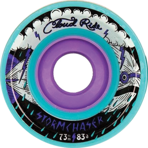CLOUD RIDE! STORM CHASER 73mm 83a TURQUOISE x4