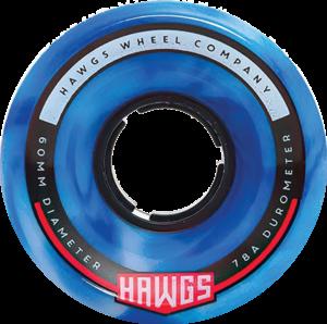 HAWGS CHUBBY HAWG 60mm 78a BLUE/WHT SWIRL x4