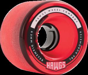 HAWGS FATTIE 63mm 78a CLEAR RED x4