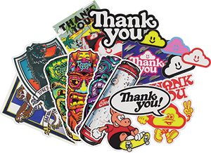 THANK YOU SM21 18/PACK ASSORTED DECALS