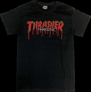 THRASHER BLOOD DRIP SS S-BLACK