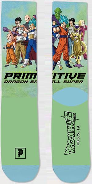 PRIMITIVE DBS2 UNIVERSAL SURVIVAL CREW SOCK GREEN