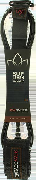 STC SUP STANDARD STRAIGHT 9' LEASH BLACK