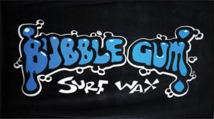 BUBBLE GUM BEACH TOWEL BLACK/BLUE