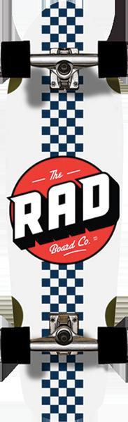 RAD CALI CRUISER COMP-9.1X32 CHECK STRIPE WHT/NAVY