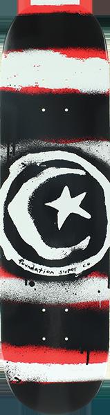 Foundation STAR & MOON DISTRESS DECK-8.0 RED