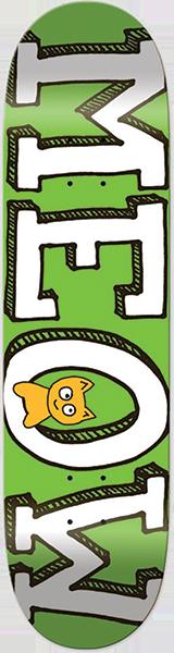 MEOW LOGO DECK-7.75 GREEN