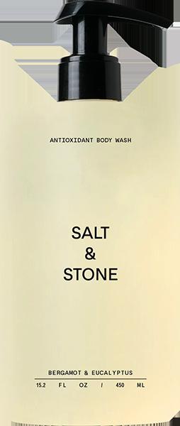 SALT & STONE BERGAMOT+EUCALYPTUS BODY WASH 15.2oz